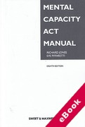 Cover of Mental Capacity Act Manual (eBook)