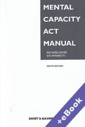 Cover of Mental Capacity Act Manual (Book & eBook Pack)