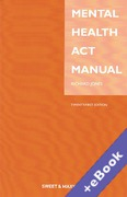 Cover of Mental Health Act Manual (Book & eBook Pack)