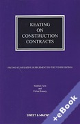 Cover of Keating on Construction Contracts 10th ed: 2nd Supplement (Book & eBook Pack)