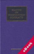 Cover of Keating on Construction Contracts 10th ed with 2nd Supplement (eBook)