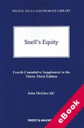 Cover of Snell's Equity 33rd ed: 4th Supplement (eBook)