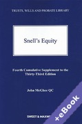 Cover of Snell's Equity 33rd ed: 4th Supplement (Book & eBook Pack)