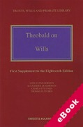 Cover of Theobald on Wills 18th ed: 1st Supplement (eBook)