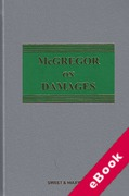 Cover of McGregor on Damages 20th ed with 1st Supplement (eBook)