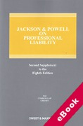 Cover of Jackson & Powell on Professional Liability 8th edition: 2nd Supplement (eBook)
