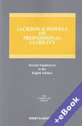 Cover of Jackson & Powell on Professional Liability 8th edition: 2nd Supplement (Book & eBook Pack)