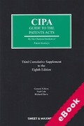 Cover of CIPA Guide to the Patents Acts 8th ed: 3rd Supplement (eBook)