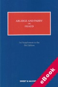 Cover of Arlidge and Parry on Fraud 5th ed: 1st Supplement (eBook)