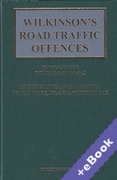 Cover of Wilkinson's Road Traffic Offences: 28th ed with 1st Supplement (Book & eBook Pack)