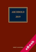 Cover of Archbold: Criminal Pleading, Evidence and Practice 2019 (eBook)