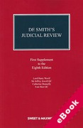 Cover of De Smith's Judicial Review 8th ed: 1st Supplement (eBook)