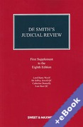 Cover of De Smith's Judicial Review 8th ed: 1st Supplement (Book & eBook Pack)