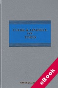 Cover of Clerk & Lindsell On Torts 22nd ed with 1st Supplement (eBook)