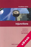 Cover of Injunctions (eBook)