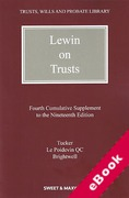 Cover of Lewin on Trusts 19th ed: 4th Supplement (eBook)