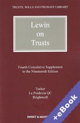 Cover of Lewin on Trusts 19th ed: 4th Supplement (Book & eBook Pack)
