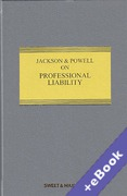 Cover of Jackson & Powell on Professional Liability 8th ed with 4th Supplement (Book & eBook Pack)