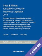 Cover of Sealy & Milman: Annotated Guide to the Insolvency Legislation 2019: Volume 2 (Book & eBook Pack)