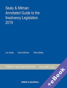 Cover of Sealy & Milman: Annotated Guide to the Insolvency Legislation 2019: Volumes 1 & 2 (Book & eBook Pack)