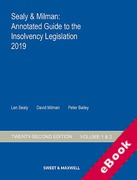 Cover of Sealy & Milman: Annotated Guide to the Insolvency Legislation 2019: Volumes 1 & 2 (eBook)