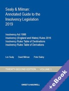 Cover of Sealy & Milman: Annotated Guide to the Insolvency Legislation 2019: Volume 1 (Book & eBook Pack)