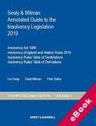 Cover of Sealy & Milman: Annotated Guide to the Insolvency Legislation 2019: Volume 1 (eBook)