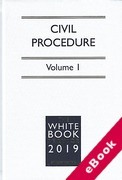 Cover of The White Book Service 2019: Civil Procedure Volume 1 only (eBook)