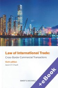 Cover of Law of International Trade: Cross Border Commercial Transactions (Book & eBook Pack)