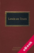Cover of Lewin on Trusts (eBook)