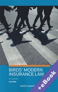 Cover of Birds' Modern Insurance Law (Book & eBook Pack)