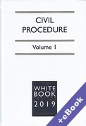 Cover of The White Book Service 2019: Civil Procedure Volume 1 only (Book & eBook Pack)