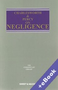Cover of Charlesworth & Percy on Negligence 14th ed: 1st Supplement (Book & eBook Pack)