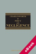 Cover of Charlesworth & Percy on Negligence 14th ed with 1st Supplement (eBook)