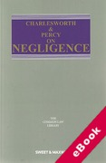 Cover of Charlesworth & Percy on Negligence 14th ed: 1st Supplement (eBook)