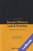 Cover of Rook and Ward on Sexual Offences: Law & Practice 5th ed: 1st Supplement (Book & eBook Pack)