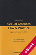 Cover of Rook and Ward on Sexual Offences: Law & Practice 5th ed: 1st Supplement (eBook)