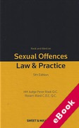 Cover of Rook and Ward on Sexual Offences: Law & Practice: 5th ed with 1st Supplement (eBook)