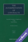 Cover of The Interpretation of Contracts 6th ed: 2nd Supplement (Book & eBook Pack)