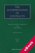 Cover of The Interpretation of Contracts 6th ed: 2nd Supplement (eBook)