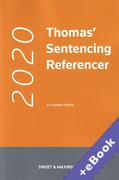 Cover of Thomas' Sentencing Referencer 2020 (Book & eBook Pack)