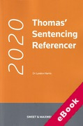 Cover of Thomas' Sentencing Referencer 2020 (eBook)