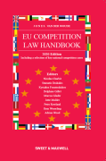 Cover of Jones and Van Der Woude: EU Competition Law Handbook 2020