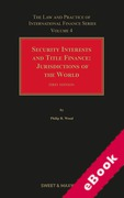 Cover of Security Interests and Title Finance: Jurisdictions of the World: Volume 4 (eBook)