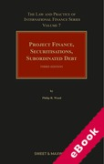Cover of Project Finance, Securitisations, Subordinated Debt 3rd ed: Volume 7 (eBook)