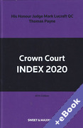 Cover of Crown Court Index 2020 (Book & eBook Pack)