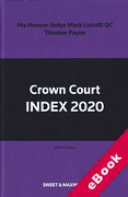 Cover of Crown Court Index 2020 (eBook)