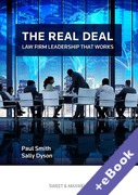 Cover of The Real Deal: Law Firm Leadership That Works (Book & eBook Pack)