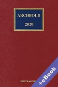 Cover of Archbold: Criminal Pleading, Evidence and Practice 2020 (Book & eBook Pack)