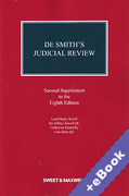 Cover of De Smith's Judicial Review 8th ed: 2nd Supplement (Book & eBook Pack)